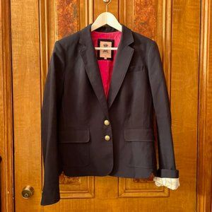 Juicy Couture Navy Blue Blazer w/ Hot Pink Lining